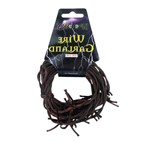 Be-Creative 3.6m RUSTY BARBED WIRE Garland Decoration Halloween Party Soft Barb V09447 UK