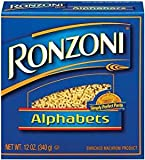 Product of USA. Pack of 3. Alphabets Enriched macaroni product Non GMO. A Low Fat, Sodium Free, Cholesterol Free Food. Contains: Wheat, Manufactured In A Facility That Uses Eggs. Ingredients: Semolina (Wheat), Durim Flour (Wheat), Niacin, Ferrous Sul...