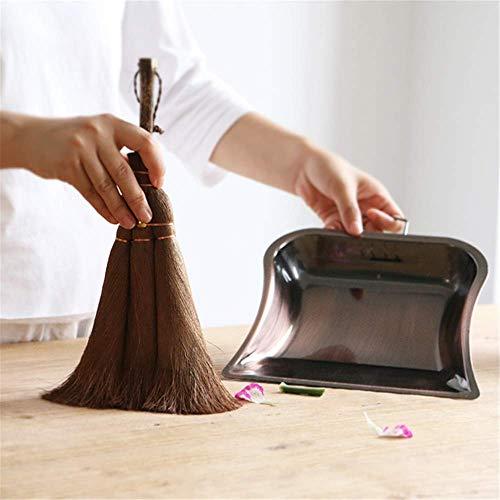 Pequeño escoba y recogedor conjunto de escoba y recogedor de la palma cepillo de escritorio escoba y recogedor combinación ventana alféizar esquina limpieza artefacto