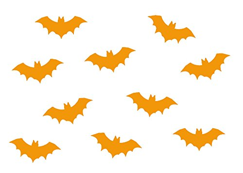 Miniblings 10x Transfert Tissu 35mm Lisse Patch Vampire Chauve-Souris I Patches à Repasser Patches Repassage, Color:Orange