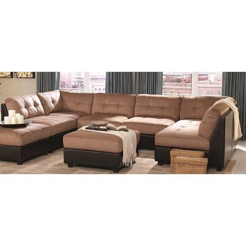 Microfiber Sectional Sofa Amazoncom
