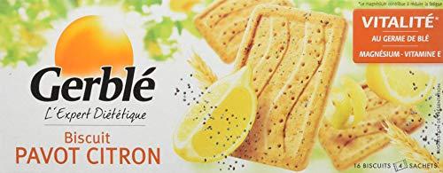 Gerblé Biscuit Pavot Citron (4 sachets de 4 biscuits) le Paquet 200 g