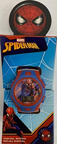Spiderman Reloj Digital Pulsera, Adultos Unisex, Multicolor, Unico