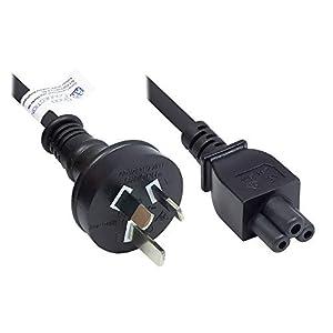 Good Connections P8205-S018 Netzkabel, 1,8 m, Netz-Stecker Typ I (AS 3112) an C5 für Notebook, SAA/Tick Mark zertifiziert, 0,75 mm² Schwarz