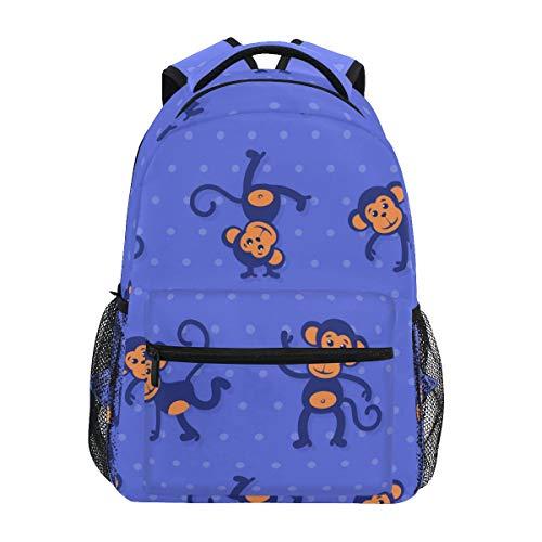 Mr.Lucien Monkey Backpack Cute Animal School bag BookBag for Boys Girls 2021261