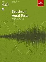 Specimen Aural Tests, Grades 4 & 5 with 2 CDs: new edition from 2011 (Specimen Aural Tests (ABRSM)) by ABRSM (8-Jul-2010) Sheet music