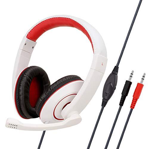 YANGSANJIN Gaming Headset - 3,5 mm 7.1 Gaming koptelefoon - hoge kwaliteit met microfoon - voor PC Mac PS4 Laptop Games - Over Ear Gamer Headphones - Noise Cancelling Microphone [nieuwe 2019 versie]
