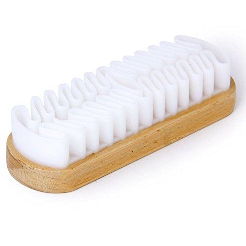 TOOGOO(R) Brosse a Chaussures Crepe en Caoutchouc Blanc pour Sacs Bottes en Suede Nubuck
