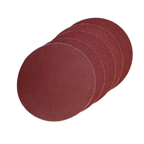 ECKRA 2974 50 - Discos de lija con velcro (diámetro: 150 mm, sin agujeros de aspiración, P240), color marrón rojizo