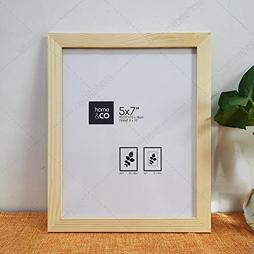Marco de madera Marco de fotos clásico 9x13 13x18 21x30cm Pleixglass Inside Color de madera blanco y negro Marco de madera para escritorio-Marco de color madera, A4 21X30cm