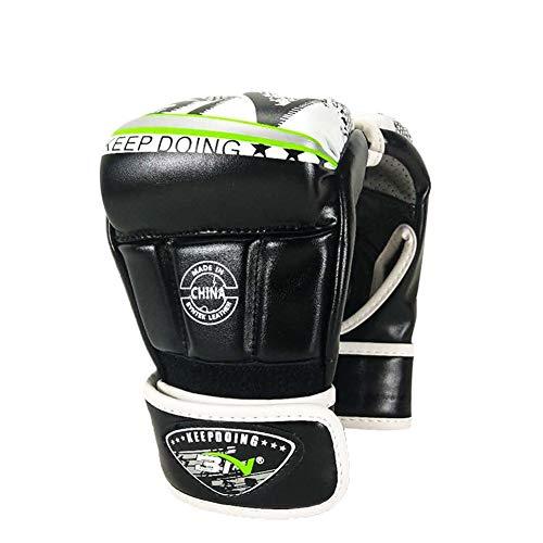 PPING Box Handschuh Herren Boxhandschuhe Halbfinger-Boxtrainingshandschuhe Trainingsboxhandschuhe Boxsackhandschuhe 10oz Boxhandschuh Junior Boxhandschuhe Black,M