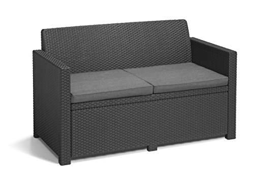 Allibert Merano Lounge Set, graphite/cool grey (poly cotton cushion) - 4
