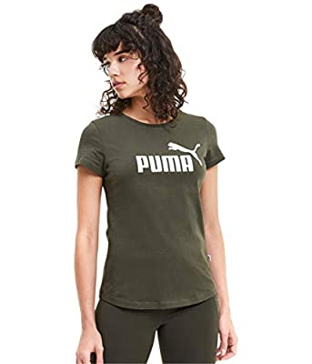 PUMA Women's Essentials T-Shirt, Forest Night, MD