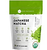 Organic Matcha Green Tea Powder (3.5oz) by Kate Naturals - USDA Organic Certified. 100% Pure Japanese Matcha. Culinary Grade for Smoothies, Lattes, Baking, Weight Loss. Boost Energy, Focus (100g)