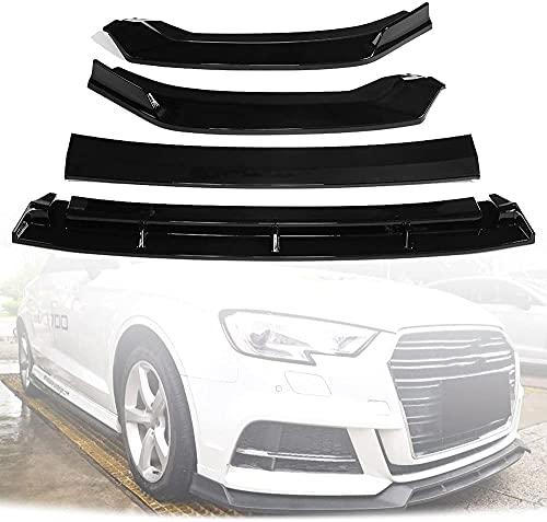 Borde del alerón Delantero para Audi A3 S3 2017-2019, difusor de protección de Parachoques, Kits de carrocería de Rendimiento Deportivo, Negro Brillante, tamaño Especial