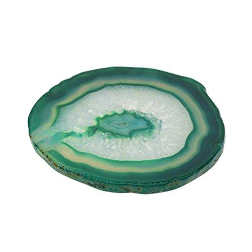 Baoblaze Natürliche Achatscheiben Achat Scheiben Mineralien Achate für Schmuckherstellung - Grün, 80-100mm