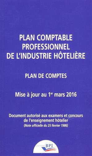 Plan comptable professionnel de l'industrie hôtelière