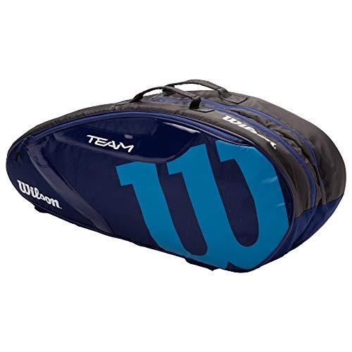 Wilson(ウイルソン) テニス バドミントン ラケットバッグ TEAMJ1.0 6PK (チームJ1.0 6パック) WR8008603001 NAVY/BLUE ラケット6本収納可能 ウィルソン