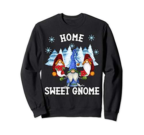 Home Sweet Gnome Weihnachtsmotiv Wichtel Zwerge Weihnachts Sweatshirt