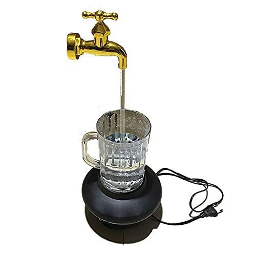 HHZZ Las Decoraciones se Pueden Utilizar para su Dormitorio, Cocina, Oficina, etc. imitando el Grifo Flotante de la decoración de la decoración del Agua Que Fluye.