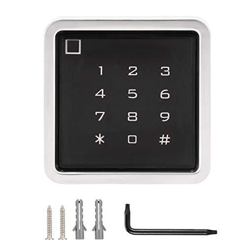 Qioniky Control de Acceso con Tarjeta, Control de Acceso, Resistente al Agua, Consumo de energía ultrabajo, Carcasa de Metal, Sonido de Alarma para Oficina, Puerta de casa al Aire Libre(IC)