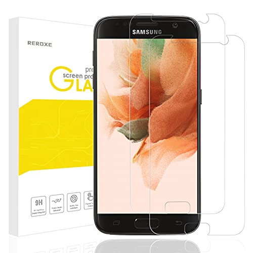 REROXE Panzerglas Schutzfolie kompatibel mit Samsung Galaxy S7 Panzerglas, 2 Stück HD Displayschutzfolie, 9H panzerglasfolie, Anti Fingerabdruck, Ultradünn, Einfach anzubringen, für Samsung Galaxy S7