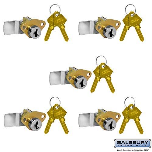 SALSBURY INDUSTRIES 2290-5 Lock for Aluminum Mailbox Door 2 Keys PER Lock-5 Pack
