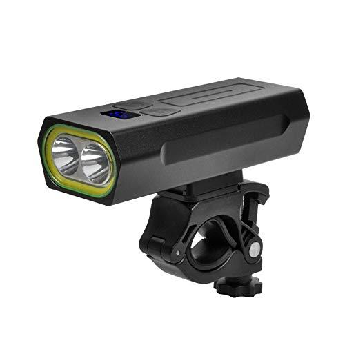 duoying Luz de bicicleta recargable USB, 5200mah batería recargable bicicleta luz delantera impermeable faro delantero bicicleta equipado con aleación de aluminio