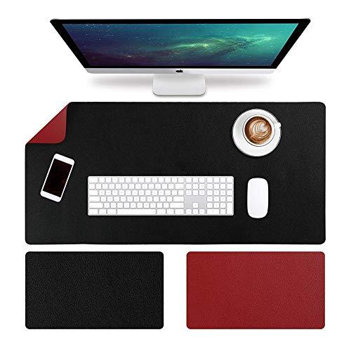 SKRCOOL lederen bureaublad, niet-slip muismat beschermer, office schrijfmat, stabiele textuur muizen mat, soepel Gaming muis mat voor laptop toetsenbord