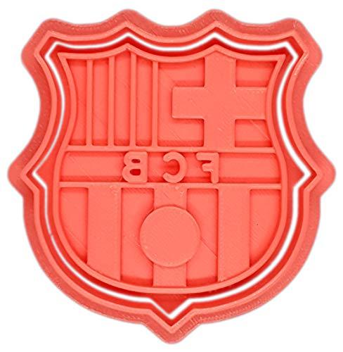 Molde Cortador de Galletas de Deporte -Fútbol Club Barcelona - Barça (Coral)