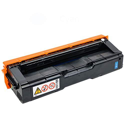 Cartucho de tóner compatible para Ricoh SP C250, compatible con Ricoh SP C250 C250DN C252DN C252SF SP C261DNW C261SFNW-Cyan