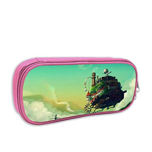 Große Aufbewahrung Doppel-Reißverschluss-Bleistiftbox für die Schule Howl's Moving Castle Poster Marker Cases Tasche Coole Schreibwaren-Tasche für Teen Kids
