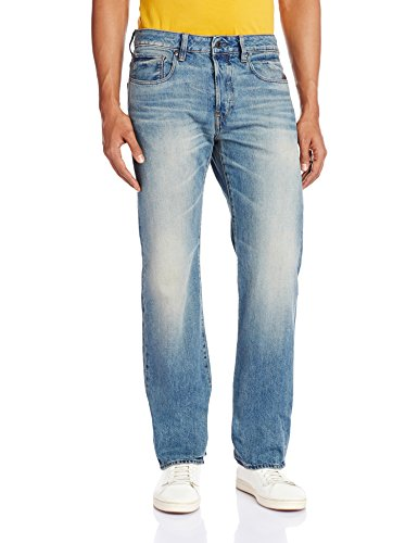 G-STAR RAW Herren Attacc Straight Jeans, Blau (medium Aged 7062-071), 38W/32L