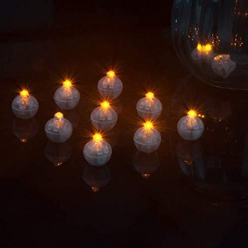Shuxinmd LED Lampen Luftballons Mini Glühend Laterne Lichter Individuell Kabellos Flash Kugel für Weihnachten Party Geburtstag Glückwünsche Flaschen Papier Laternen Blumen 100 Teile