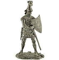 サー・ヒュー・カルブリ。イギリス、14世紀。金属の彫刻。コレクション54mm(1/32スケール)ミニチュアフィギュア。ブリキおもちゃの兵隊