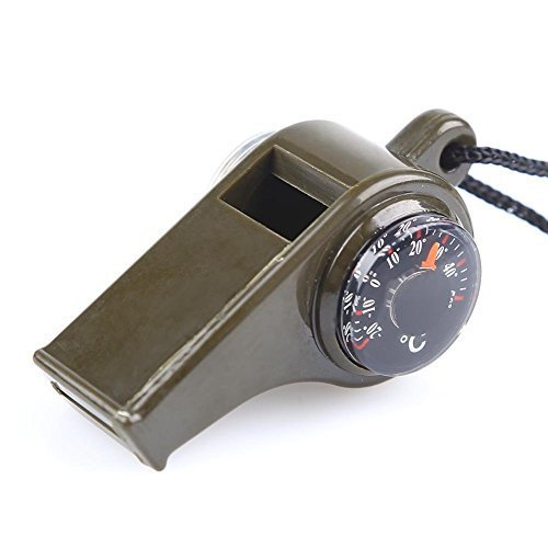TTSAM Multifunctional 3 in1 Emergency Survival Gear Whistle Compass Thermometer With Lanyard for Outdoor Camping Hiking