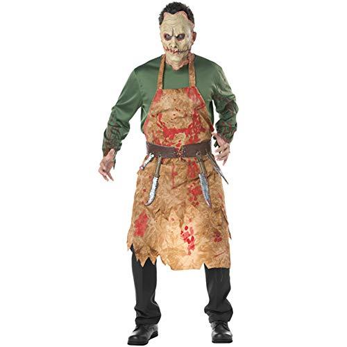 CXYY Disfraz de Halloween Disfraz de Carnicero Sangriento Disfraz de Cosplay de Chef Europeo y Americano Disfraz de Zombie para Hombre