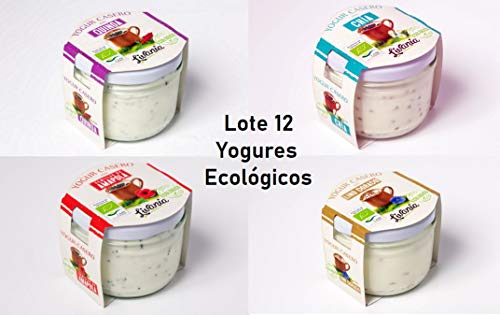 LIVANIA - Lote 12 Yogures Ecológicos de Semillas. 4 Yogur Chia + 4 Yogur Lino + 2 Yogur Amapola + 2 Yogur Quinoa. Elaborados Artesanalmente, listos para tomar. Comida Sana a Domicilio.