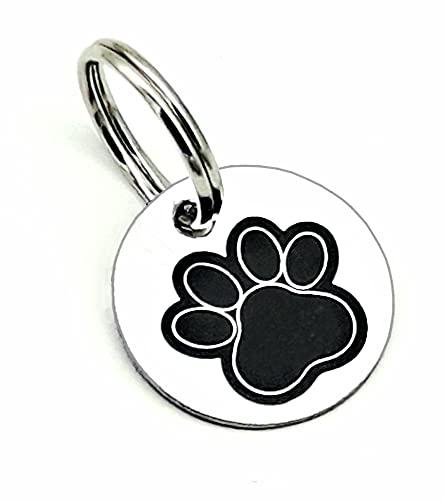 ZALDUN 2 Chapas de identificación Personalizada para Collar Perro, Gato, Mascota- Personaliza
