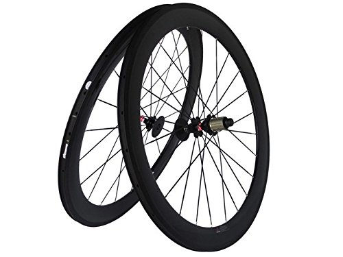 Flyxii 3K, coppia di ruote in carbonio opaco per bicicletta da strada, lunghezza del raggio dal mozzo al cerchio: 60 mm; per Shimano 8/9/10/11s