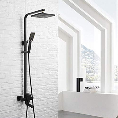 Amazing Deal RuiXia Black Paint 304 Stainless Steel Shower Set Bathroom Three Block Multi-Function S...
