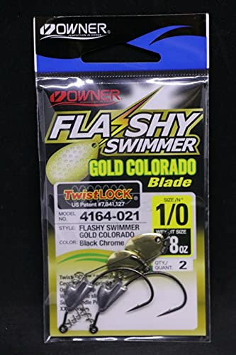 Owner Flashy Swimmer Gold Colorado - Size 1/0 Hook - 1/8 oz - Pack of 2