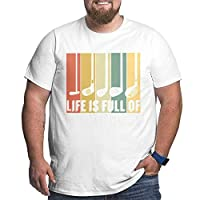 Life Is Full Of Important Choices Men'S Graphic Cotton Short Sleeve T-Shirt White 5XL