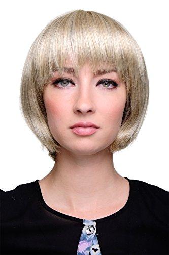 WIG ME UP - Perruque carré sexy, frange droite, blond, blond cendré clair 703-22