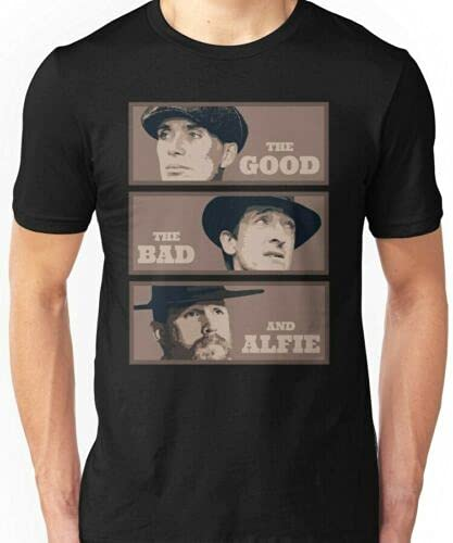 Handidi PE-aky Bli-nders The Good The Bad And The Alfie By Order Parody Black T-Shirt S-3XL