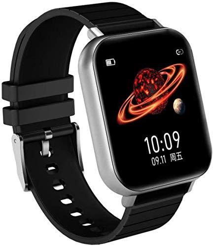 Reloj Inteligente Mujer Hombres Fitness Tracker Smartwatch Electrónica Deporte Pulsera Inteligente para Android e IOS Pantalla de 1.54 Pulgadas B-A