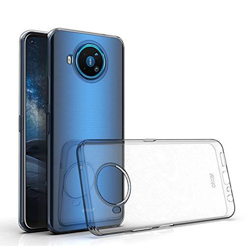 Olixar Schutzhülle für Nokia 8.3 5G – Transparente Schutzhülle aus Silikongel & TPU – ultradünn – schlanker Schutz – kabelloses Laden kompatibel – stoßfeste Handyhülle – kristallklar