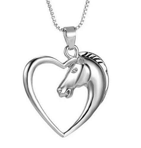 Schmuck Halskette mit Anhänger Pferd / Pony / Liebe / Freundschaft / originelles Geschenk für Damen / Mädchen / Jugendliche / Reiter / Muttertag