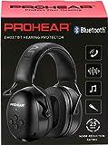 PROHEAR 037 Bluetooth Casque Anti Bruit, Musique Protection Auditive Rechargeable avec Sac...