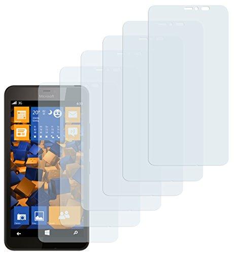 mumbi Schutzfolie kompatibel mit Microsoft Lumia 640 XL Folie klar, Bildschirmschutzfolie (6X)